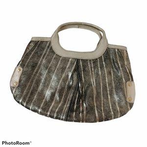 Sondra Roberts Rustic Metallic Evening Handbag